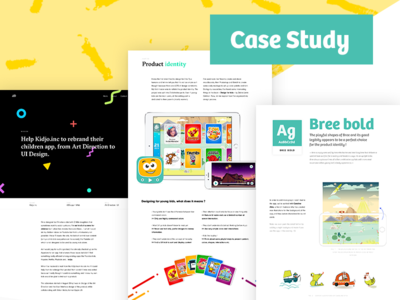 Kidjo Case Study art direction ui case study design