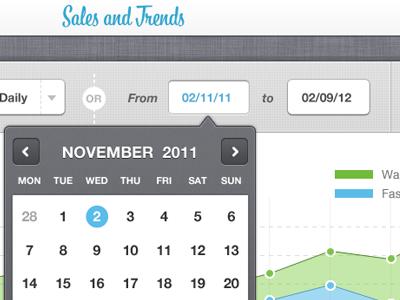 Sales & Trends - analytic Ipad UI design ui ipad analytics data touchscreen baseline