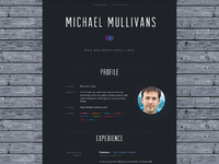 Resume dribbble largepreview