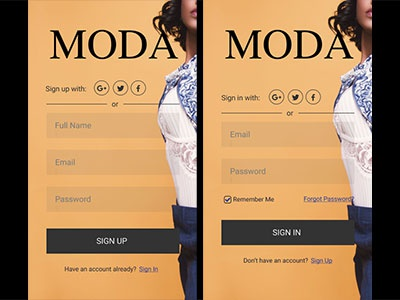 Clothing Line Sign Up authentication login signin signup
