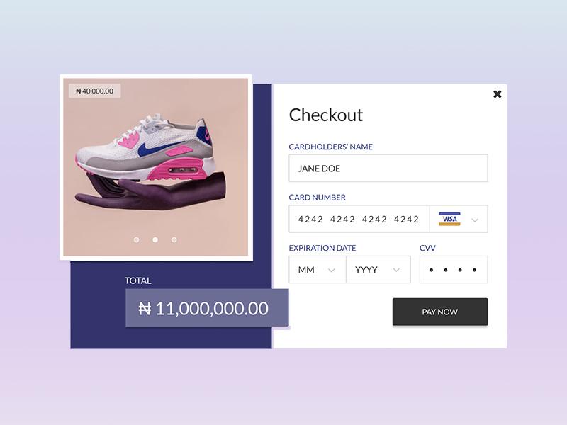 Checkout Page checkout