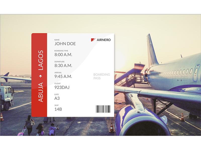 Boarding Pass dailyui boardingpass