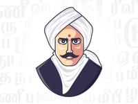 Bharathiyar Vector illustration