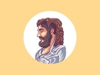 Ancient character vector illustration