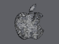 Apple Logo in Grey Leaves leaves logo leaves vector leaves apple