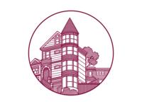 San Francisco Victorian House 1800s san francisco house vector house house illustration victorian house victorian line house home illustration victorian home