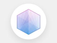 Hexagon vector icon