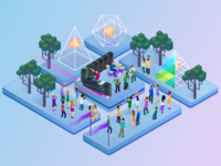 Isometric Concert Illustration