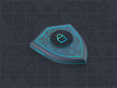Digital Security Shield security illustration blockchain illustration shield illustration