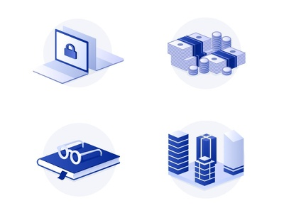 Branded Icons vector illustration blockchain