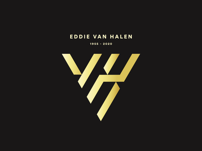A tribute to Eddie Van Halen i will miss you illustration logo rebranding eddie van halen