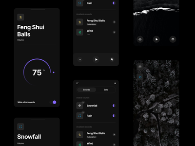 Sounds App Concept mobile app design mobile ui figma darkmode concept mobile app ui