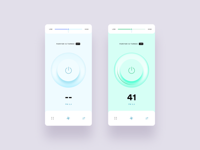 Purifier Concept App ui concept smart home mobile figma clean ui