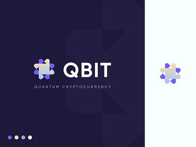 QBIT Logo. Cryptocurrency Concept App dark ui branding concept figma logo