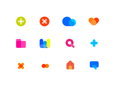Few colorful icons colors icons