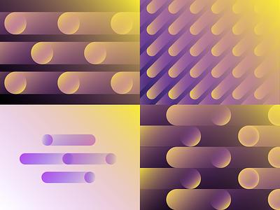 Vintage gradients for IncomeeApp gradients key visual branding