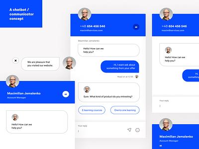 Chatbot / Communicator UI mvp concept figma