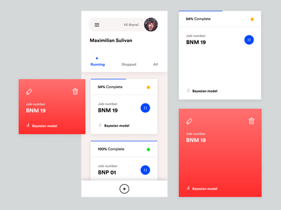 mLearning Concept App machine learning responsive components figma