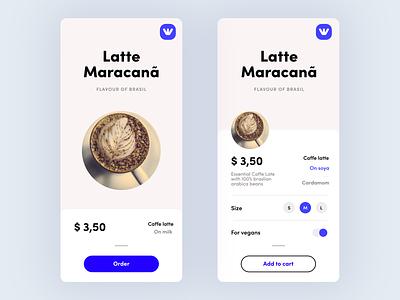 World of Coffee App | Maracanã flavour concept brand ui modern app food figma