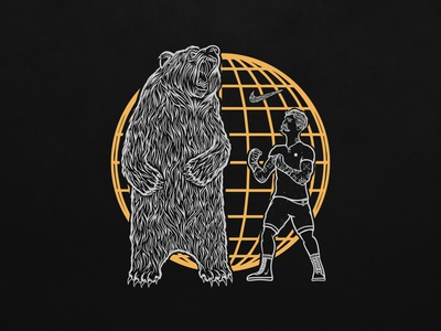 Nike Training Apparel Graphic vector design branding illustration bear graphic apparel logo apparel training