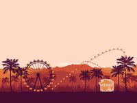 Coachella snapchat illustration