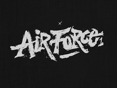 Air Force 1 swoosh type handdrawn typography logo apparel shoes af1 airforce 1 nike