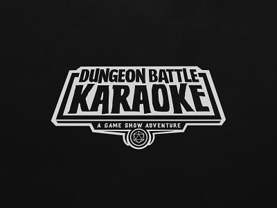Dungeon Battle Karaoke Mark logotype branding gameshow game lockup mark logo typography