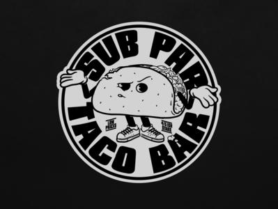 Sub Par Taco Bar vector tacos portland oregon branding illustration tacobar taco