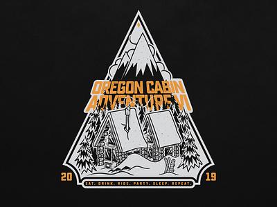 Cabin Adventure VI typography adventure mark graphic design portland branding logo illustration mt hood oregon snowboarding