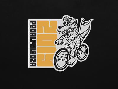 PedalPalooza 2019 vector design typography logo branding illustration portland wolf bike