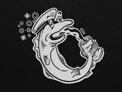 IDL Summer Fun Day Drunk Fish adventure apparel mark graphic design oregon portland branding illustration logo