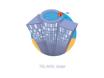 Tel Aviv, Isreal sticker mule playoff summer icon isreal tel aviv