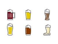 Beer Icons (Freebie vector)