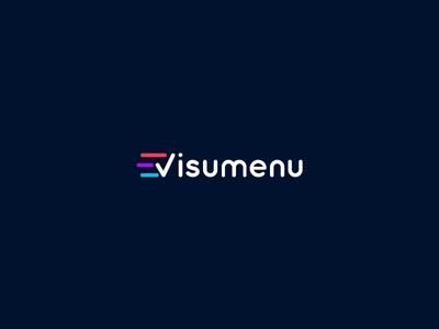 Visumenu Logo brand design logo visumenu