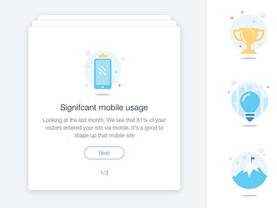 Insight Cards wix sketch illustration analytics bi smart cards insight