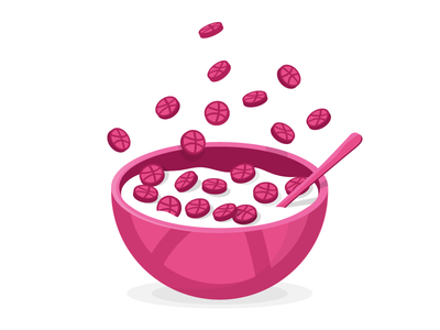 Dribbble Cereal sticker mule ball playoff sticker dribbble cereal