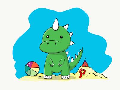 Green Dinosaur cute ipad pro green dinosaur