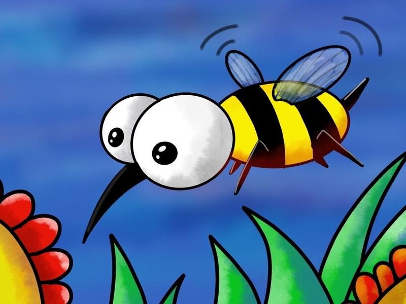 Bee pencil color bee apple ipad pro