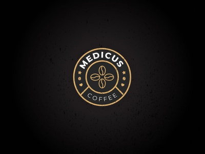 Coffee company logo circle badge bean retro coffee medic logo