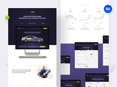Autotesto – Case Study ui ux styleguide reponsive kpi behance ui design uiux product design carservice landing page casestudy webdesign web car automotive