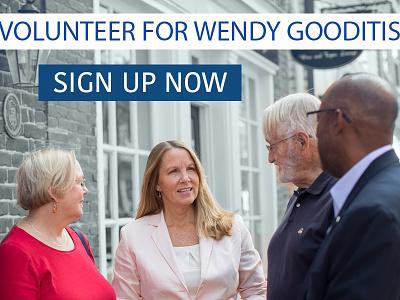 Volunteer for Wendy Gooditis ads politics