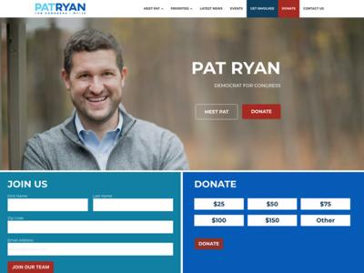 Pat Ryan Website Design website design tech for campaigns