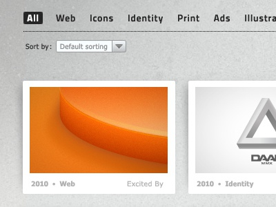 New Portfolio Layout portfolio orange grey layout ui