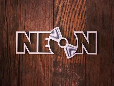 NEON Logo makerbot 3d printed logotype woodgrain