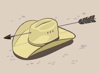 Yeehaw vector art illustration arrow cowboy hat