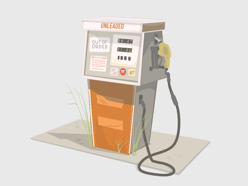 Out of Order illustration gas pump