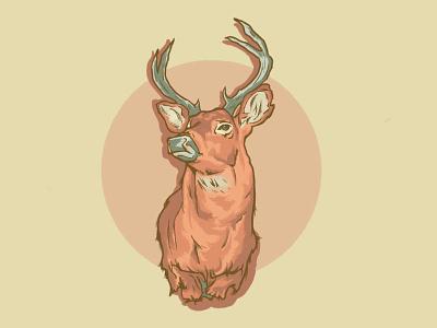 Deer Head deer procreate illustration