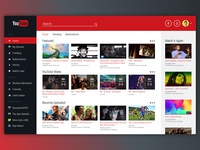 YouTube Redesign UI