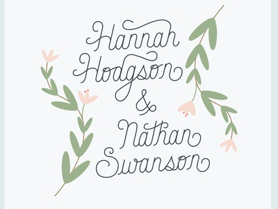 Custom Monoline Type for my Wedding Invitations