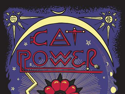 Cat Power w/ Jade Castrinos music astrology occult tarot card tarot cat power folk rock and roll vector rock poster poster design poster art poster illustration concert poster